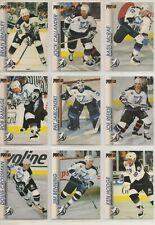 1992-93 Pro Set TAMPA BAY LIGHTNING Team Set - 9 Hockey Cards