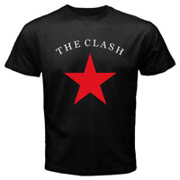 The Clash Classic Star Logo Men's Black T-shirt Size S-3XL