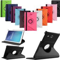 Housse Coque Etui Rotatif 360 PU Cuir Noir Samsung Galaxy Tab E 9.6 T560 T561