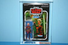 STAR WARS 12 VINTAGE COLLECTION AFA GRADED MINT ON CARD AHSOKA TANO 9.00 FIGURE