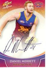 2008 Select AFL Champions Blue Foil Printed Signature FS10 D. Merrett (Brisbane)