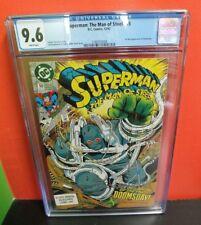Superman: The Man of Steel #18 (Dec 1992, DC) CGC 9.6 Jon Bogdanove Autograph!