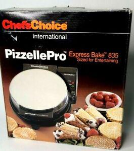 Chefs Choice International Pizzelle Pro Express Bake Toscano Maker 835 New OPNBX