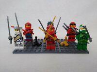 Genuine Lego 6 Ninjago Minifigure Bundle with 2 Scorpions on Baseplate Free Post