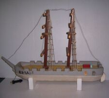 "Vintage Handmade Folk Art Wooden Ship Boat Model ""Niagara"" 35"" Long"