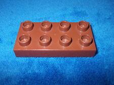 LEGO DUPLO RITTERBURG 1 X flacher 8er Noppen STEIN BAUSTEIN 4785 4777 4776 BRAUN