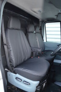 Black Tailored 100% Waterproof Seat Covers Front 3 for Ford Transit MK7 MK6