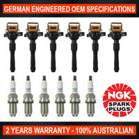 6x Genuine NGK Platinum Spark Plugs & 6x Ignition Coils for BMW 320Ci 525i 530i