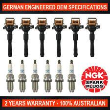 6x Genuine NGK Platinum Spark Plugs & 6x Ignition Coils for BMW 320Ci 525i 530i