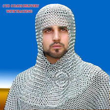 Aluminum Chainmail Coif Round-neck, Chainmail Hood...
