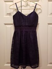 New Navy Women's Bailey Blue Lace Dress w/Lining - Size M