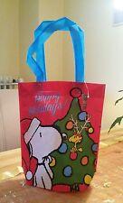 !! Snoopy & Woodstock  / Peanuts - Beutel / Tüte Bag rot blau / Neu mit Etikett