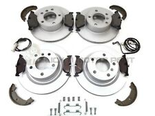 BMW E90 320D 320 D FRONT & REAR BRAKE DISCS & PADS SHOES SENSORS & FITTING KIT