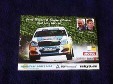 CP POSTCARD CARTOLINA OPEL ASTRA WECKER RALLY WRC RALLYE 2014
