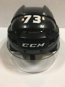 TYLER TOFFOLI Los Angeles Kings Black Game Used Worn Helmet Shield COA