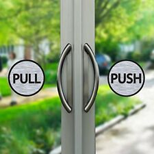 Pull Push Door 6cm Stickers Shop Window Salon Cafe Office Vinyl Brushed Sign