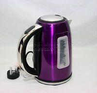 1.7L Litre Cordless Electric Kettle Fast Boil Jug Washable Filter 2200w PURPLE-P