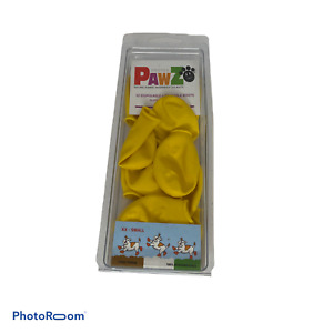 🍊 PawZ Protex Dog Boots Water-Proof Paws Disposable Reusable XX-SMALL Yellow B4