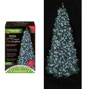 1000 LED Christmas TREE Brights Timer Lights Multi Action by Premier - White