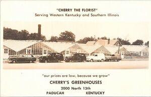 RPPC Paducah KY Cherry's Greenhouses Florist Advertising 1950s