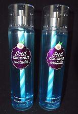 BATH & BODY WORKS ICED COCONUT COOLADA FRAGRANCE MIST SPLASH Full Size SET 2 #40