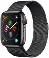Apple Watch Series 4 GPS+LTE 44MM Space Black Stainless Case Milanese Loop Band