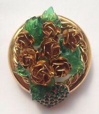 BEAUTIFUL VINTAGE BROOCH BY BIJOUX ROSSI MADE IN FRANCE