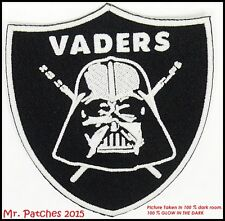 STAR WARS Darth Vader Sith Lord GLOW IN THE DARK Embroidery PATCH IRON/SEW ON