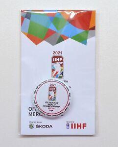 2021 IIHF Ice Hockey World Championship Riga Latvia Pin Badge