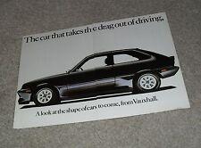 VAUXHALL CHEVETTE 2300 HS Black Magic Concept Car Brochure 1979