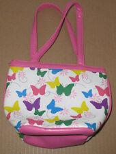 Little Girls Small Hand Bag Pink White Butterflies (SC80)
