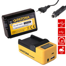 Ladegerät USB LCD + Akku f Sony NP-FW50 A7/S/R A3000 Α6000 ALPHA 6300 ILCE-6300