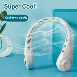 Mini Fan Neckband Bladeless Lazy Neck Hanging Cooler USB Rechargeable Portable