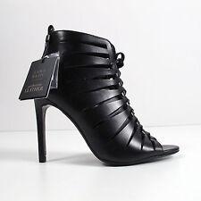 Zara Women's Shoes Size US 9 EU 40 UK 7 Leather Calf Strap Open Toe Pumps
