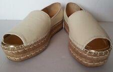 NEW $650 PRADA Platform Slip-On Peep Toe Espadrille Sandals Wedge Shoes 41/11
