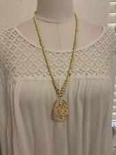 Vintage Ethnic Native Tribal carved dragon Necklace