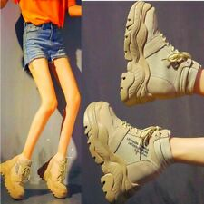 Women Platform Wedge Ankle Boots High Heel Combat Military Fashion Sneakers Punk