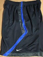 Nike Mens Sweatpants Basketball Shorts Black Blue Xxl 2xl Activewear