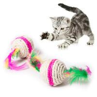 Bunte Katze Spielzeug Ball Interaktive Katze Spielzeug Spielen Kauen Rassel N9X1