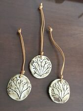 """Ceramic """"Natural Element"""" Gift Tag or Christmas Ornaments - Hand Made"""