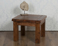 Valencia Lamp Side End Table Dark Solid Sheesham Rosewood
