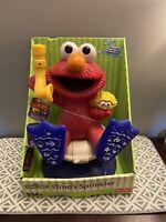 Tyco Sesame Street Elmo's Water Lawn Sprinkler Toy Blue Flippers & Snorkel