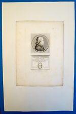 Gravure au pointillé, Portrait de Claude Jacquemard, Courbe, fin XVIIIe