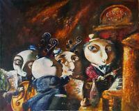 "Alexander Kanchik ""Orchestra"" Original Oil On Canvas Large Painting Signed COA"