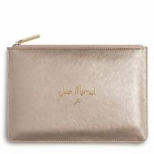 Katie Loxton Perfect Pouch - 'JUST MARRIED' with gift bag