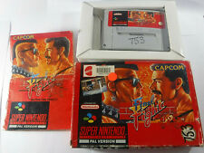 Final Fight Boxed Complete SNES Super Nintendo