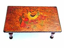 Beautifully Painted Antique Primitive Dutch/German Folk Art Signed Stool, c.1793