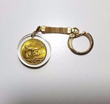 Vintage Aquarius Lucky Coin Key Chain Keychain