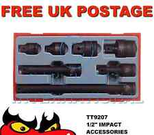 """Teng Tools 7 Piece 1/2"""" Drive Impact Accessories Extention Bars Adapters TT9207"""