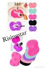 Silicone Makeup Brush Cleaner Cleaning Cosmetic Scrubber Board Mat Pad Tool